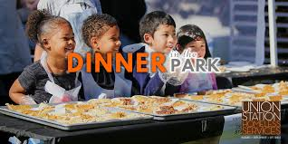 dinner in the park 2017 union station homeless services
