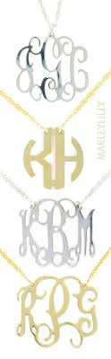 monogram jewelry cheap best 25 monogram necklace ideas on preppy clothes