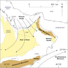 rub al khali map developing a framework of quaternary dune accumulation in the