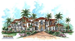 luxury house plans one story tuscan house plans luxury home old worldmediterranean style single
