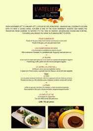 atelier de la cuisine l atelier de joël robuchon menu