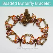 beaded butterfly bracelet images Beaded butterfly bracelet pattern craft designs by eve leder jpg