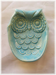 owl home decorations owl spoon rest soap dish home decor by angelheartdesigns 15 00