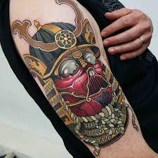 japanese geisha and samurai tattoo design
