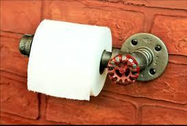home design fancy monkey toilet paper holder stock photo image