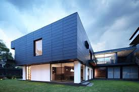 Home Design Exterior Walls Contemporary House Design With Exterior Ceramic Panels And Wood Decor