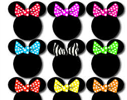 minnie mouse bow clipart minnie bow applique pink polka dot