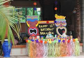 Pool Party Decoration Ideas Kara U0027s Party Ideas Hawaiian Themed 13th Birthday Pool Party Full