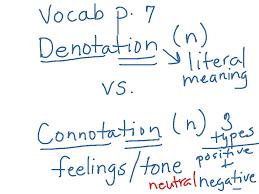 Neutral Connotation Showme Connotation