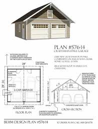 Home Plans With Detached Garage by Garage Plans 2 Car Craftsman Style Garage Plan 576 14 24 U0027 X