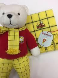 rupert bear lambswool scarf menswearstore uk