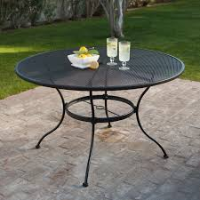 Patio Round Tables Belham Living Stanton 48 In Round Wrought Iron Patio Dining Table