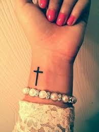 simple cross search tattoos
