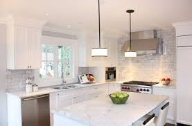 kitchen white and grey marble herringbone kitchen backsplash