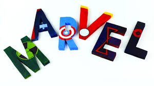 diy avengers room decor 3d letters youtube