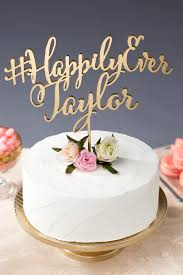 wedding cake hashtags hashtag wedding cake topper custom with your last name for