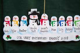 snowman family of 9 handmade personalized ornament country flickr