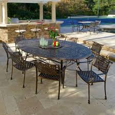 costco tahoe 9 piece oval dining set with lazy susan home decor