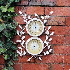 garden flower clock and thermometer by kingfisher ebay