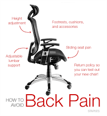 office chairs for back staples canada