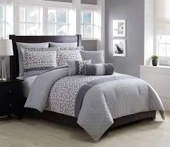 8 piece miles charcoal gray comforter set