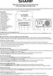 A 2 15 Alarm 2 by Spc658 Alarm Clock With Bluetooth Speaker User Manual Spc658