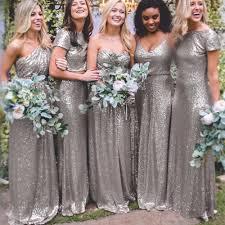 silver bridesmaid dresses sparkly silver bridesmaid dresses choice image braidsmaid dress