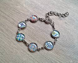 silver bracelet gift images Rainbow portuguese tiles bracelet xtory jewelry jpg