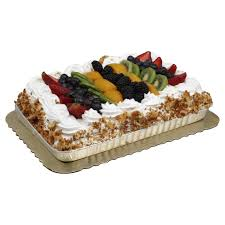 h u2011e u2011b bakery tres leches 1 4 sheet with fully topped fruit u2011 shop