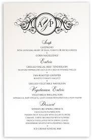 Wedding Invitations With Menu Cards Vintage Wedding Menu Cards Curly Sue Menu Card For Wedding