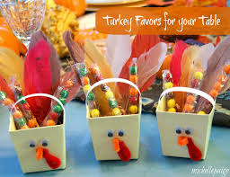 turkey favors for your table diys crafts