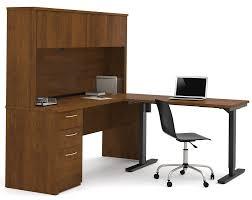 Adjustable Height Workstation Desk by Latitude Run Karyn Electric Adjustable Height L Shape Computer
