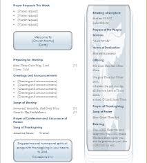 sunday church program layout document hub