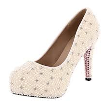 high heels designer velcans ivory womens high heels pearl designer