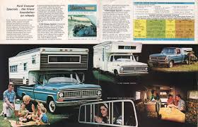 Ford F250 Truck Camper - 1970 pickup ford truck sales brochure