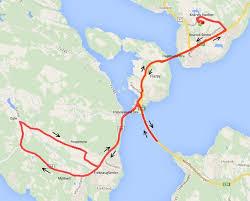 Map Run Route by Knarvikmila The Great Fjord Run World U0027s Marathons