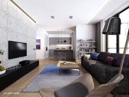 decorating contemporary apartment living room design with wooden