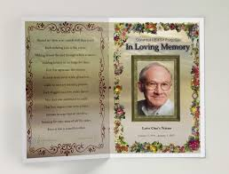 funeral phlet ideas free funeral program templates