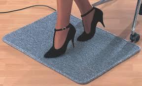 tapis chauffant bureau rs office tapis chauffant électrique l 700 x p 500 mm achat