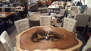live edge round table live edge twisty log round dining table melrose park furniture store