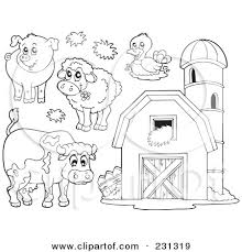 animal coloring pages clipart 74
