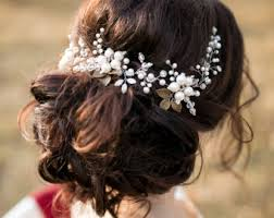 wedding hair flowers wedding hair comb wedding hairpiece hair vine headpiece