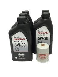 nissan maxima oil change amazon com genuine nissan 5w 30 oil change kit 5 quarts 15208