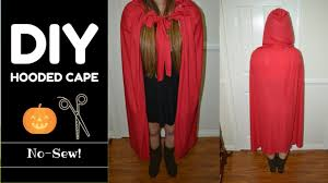 diy hooded cape no sew u0026 measurements included last minute