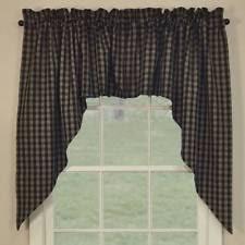 Country Plaid Curtains Plaid Swags Ebay