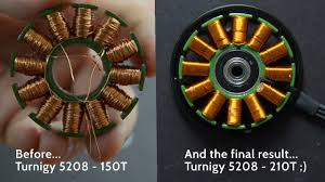brushless motor disassembly and rewinding turnigy 5208 150t to