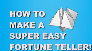 how to make a easy paper fortune teller