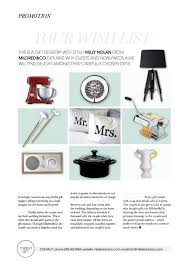 wedding gift registry nz mildred co a new zealand wedding gift registry in the press