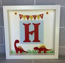 Personalised Baby Nursery Decor Personalised Dinosaur Name Frame Keepsake Gift Newborn Baby