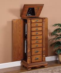jewelry armoire oak finish beautiful looking jewelry armoires add ambience to your bedroom